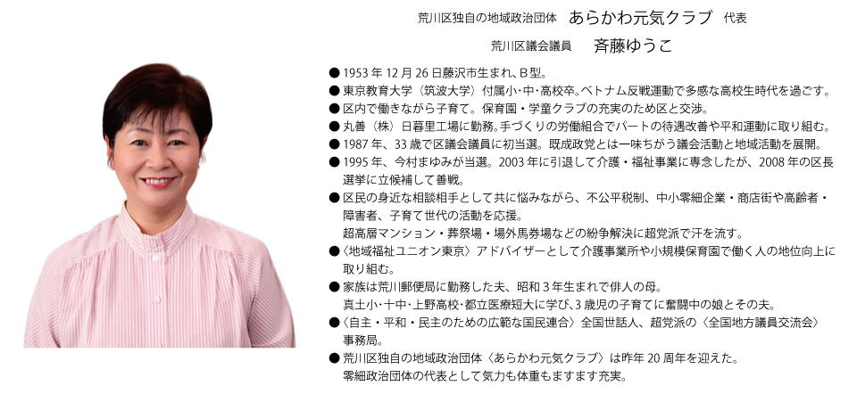 斉藤ゆうこプロフィール
